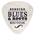 Bendigo Blues & Roots Music Festival Sticky Logo